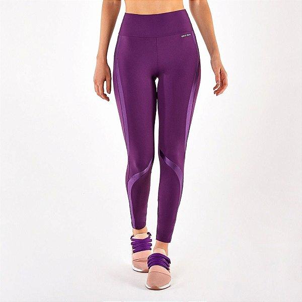 Calça Legging Alto Giro Bodytex Recortes Atlanta Roxo 2112330