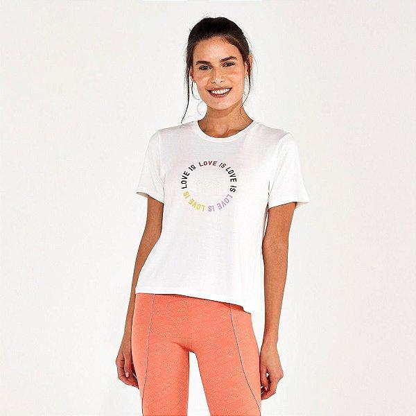 T-Shirt Alto Giro Radiosa Love IS Off White 2112733