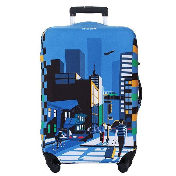 Capa para Mala Luggio Premium Estampa City