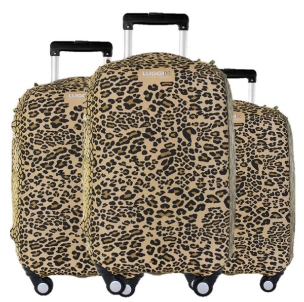 Kit 3 Capas para Malas Premium Luggio Estampa Leopard
