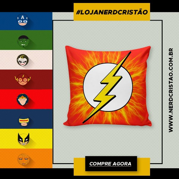 Almofada Flash Logo