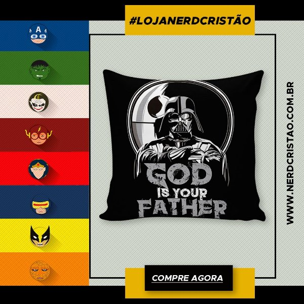 Almofada God Is Your Father