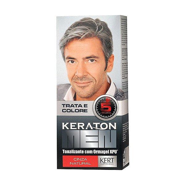 Tonalizante Keraton Men - Cinza Natural