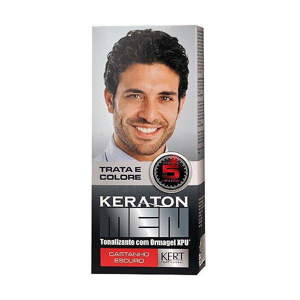 Tonalizante Keraton Men - Castanho Escuro