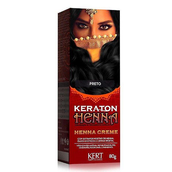 Tonalizante Keraton Henna Creme - Preto
