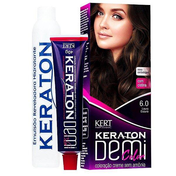 Coloração Semipermanente Keraton Demi Color 6.0 - Louro Escuro
