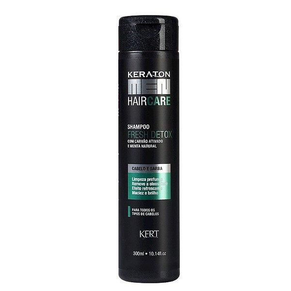Shampoo Keraton Men-Fresh Detox-Carvão e Menta
