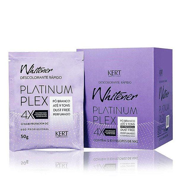 Descolorante WHITENER Platinum Plex-Dust Free-Pó Branco-50g