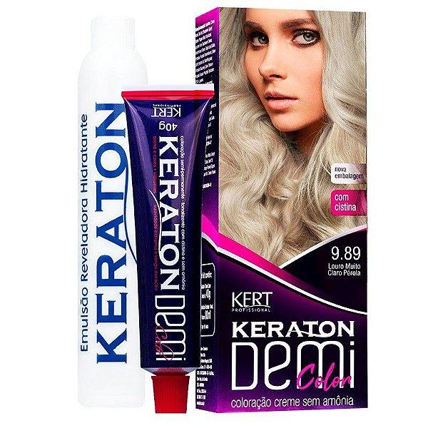 Coloração Semipermanente Keraton Demi Color 9.89 - Louro Médio Muito Claro Pérola