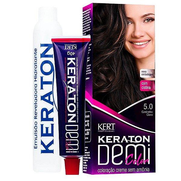 Coloração Semipermanente Keraton Demi Color 5.0 - Castanho Claro