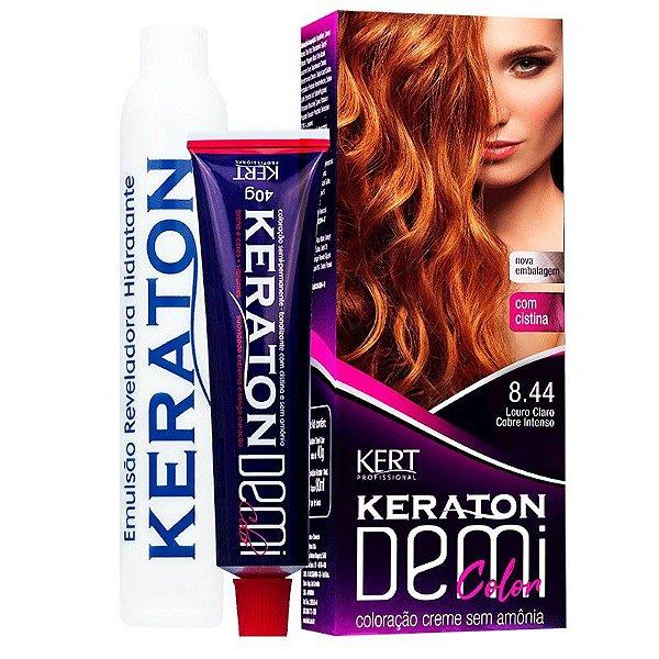 Coloração Semipermanente Keraton Demi Color 8.44 - Louro Claro Cobre Intenso