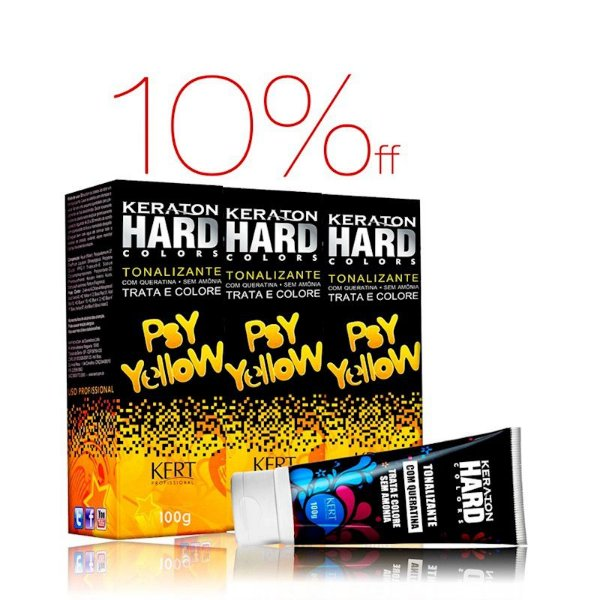 Kit 3 Keraton Hard Colors - Psy Yellow
