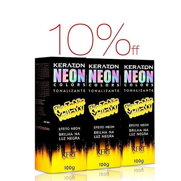 Kit 3 Keraton NEON Colors - Plutonic Yellow
