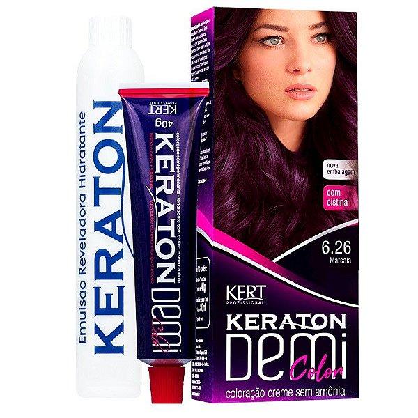 Coloração Semipermanente Keraton Demi Color 6.26 - Marsala