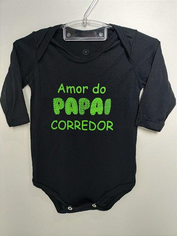 Body Infantil Amor do Papai Corredor