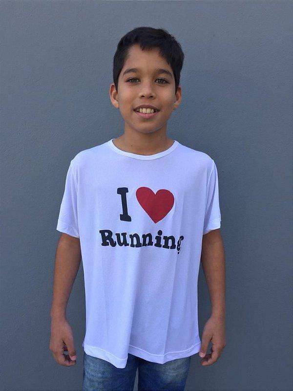 Camiseta Infantil I Love Running