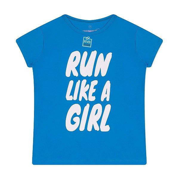 Camiseta Feminina Run Like a Girl Proteção UV50+