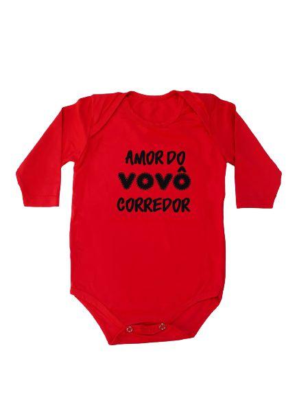 Body Poliamida Infantil Amor do Vovô Corredor.