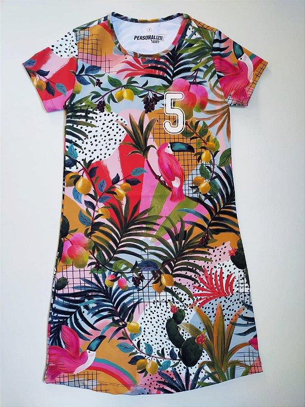 Vestido Estampado Tropical 5km