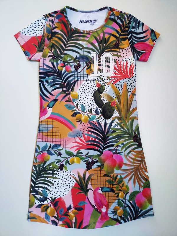 Vestido Estampado Tropical 10KM