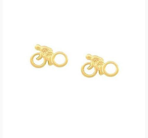 Brinco Ciclista Mini Folheado a Ouro 18k
