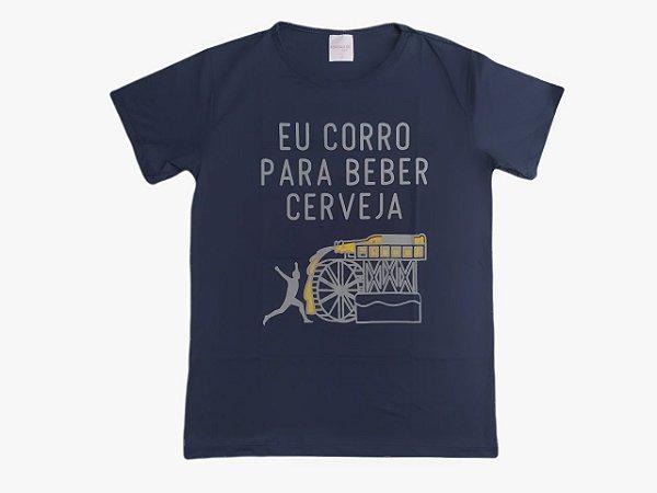 Camiseta Feminina Eu Corro Para Beber Cerveja