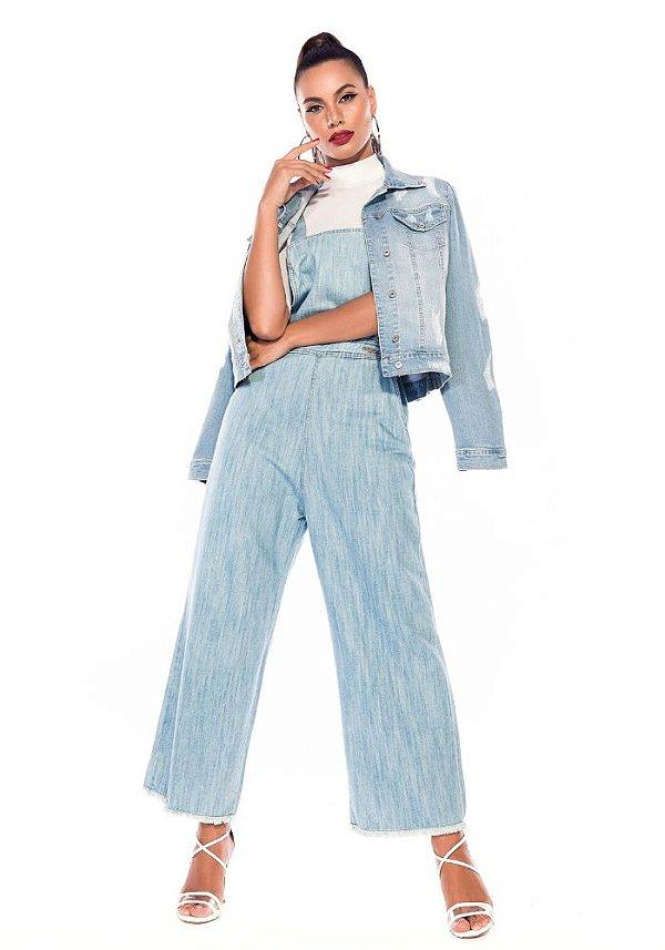 Macacão pantacout jeans