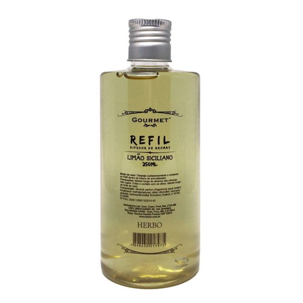 Difusor de Aromas Refil - Fragrância Limão Siciliano - Gourmet