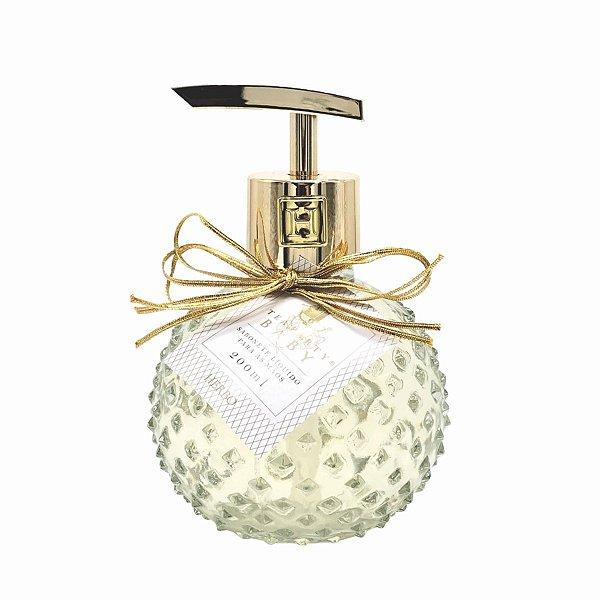 Sabonete Líquido para mãos (frasco de vidro) - Fragrância Baby - Tea Party