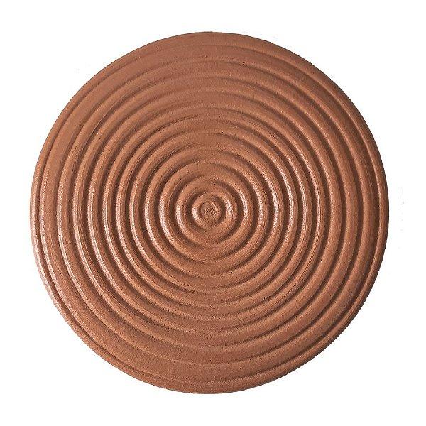 Placa com círculos de cerâmica grande