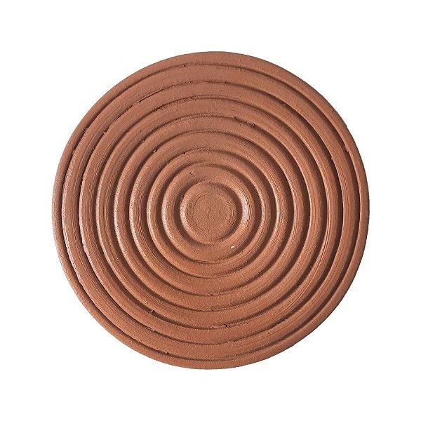 Placa com círculos de cerâmica média