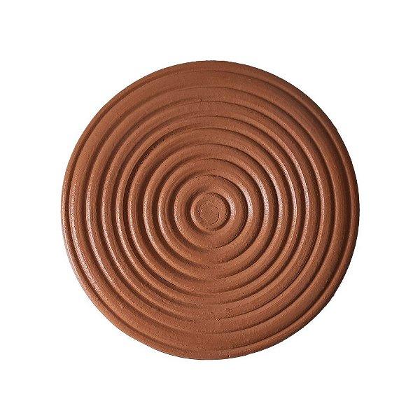 Placa com círculos de cerâmica pequena