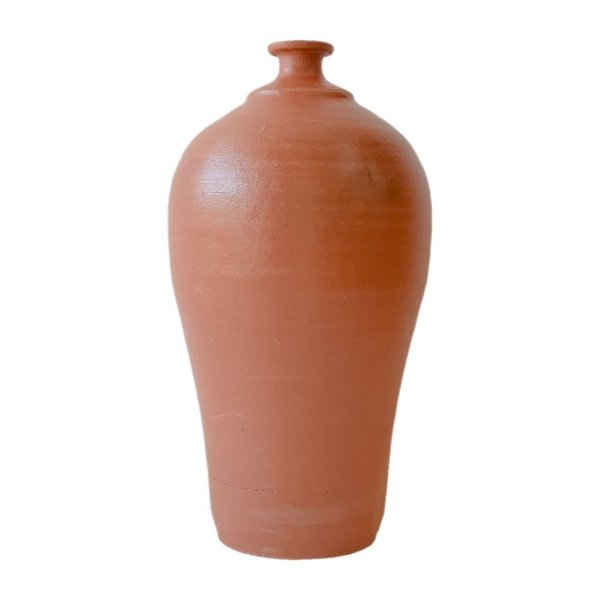 Jarro carretel de cerâmica terracota