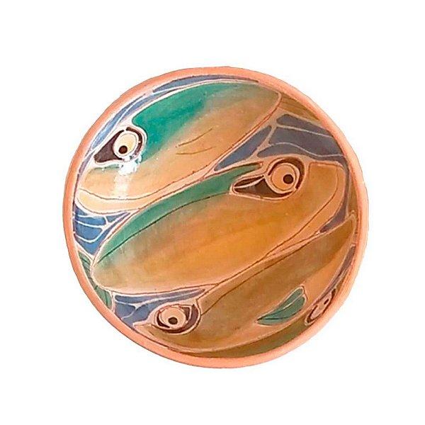 Cumbuca peixes grandes em cerâmica vitrificada