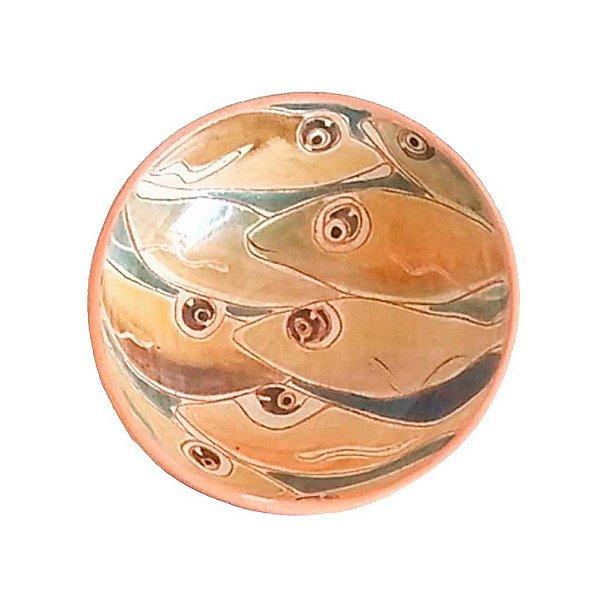 Cumbuca peixes pequenos em cerâmica vitrificada