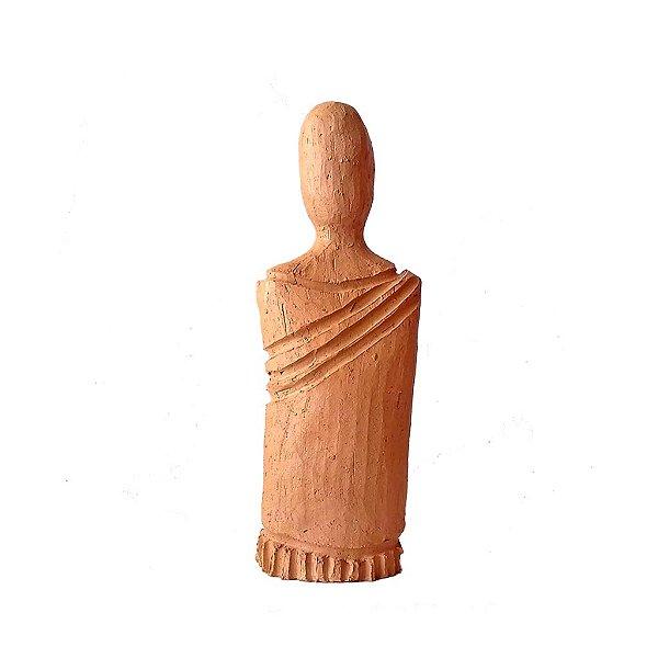 Escultura busto KFI com vestido média em cerâmica