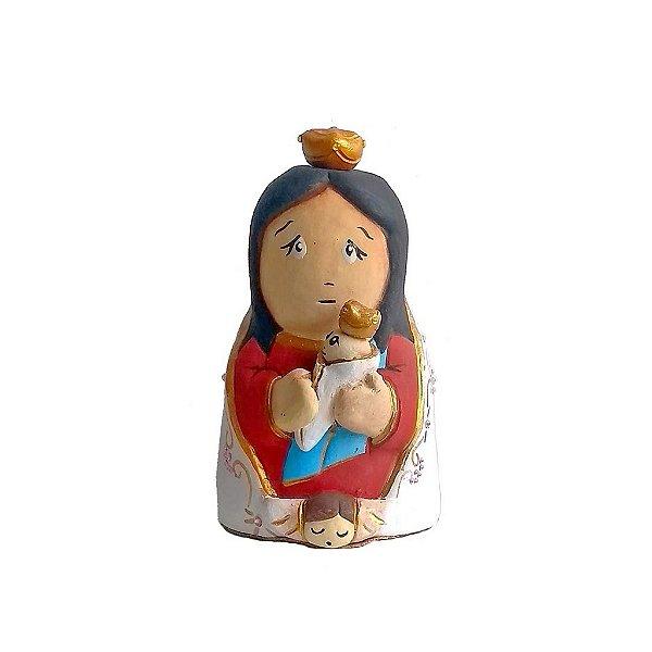 Escultura de Nossa Sra de Nazaré em cerâmica