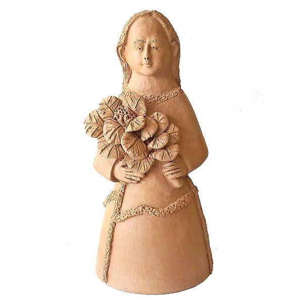 Dondoca Maria em cerâmica natural
