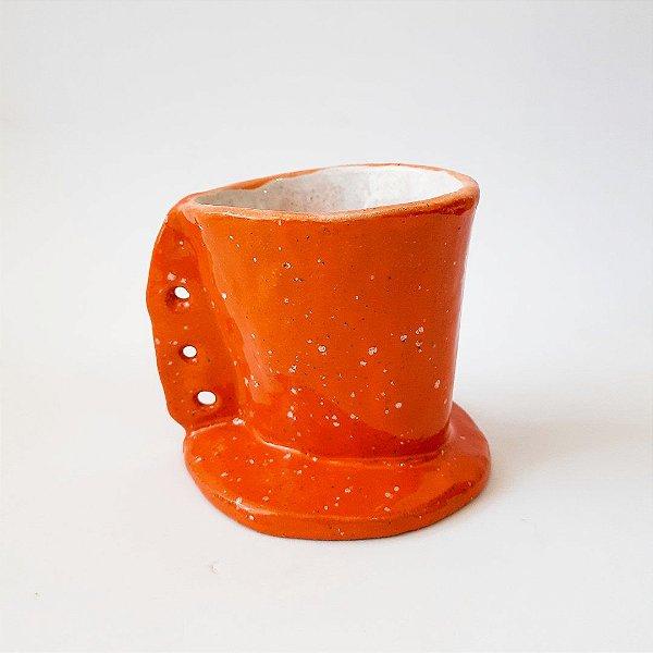Porta coador em cerâmica vitrificada