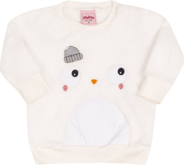 Conjunto Pinguim Off White - Serelepe Kids