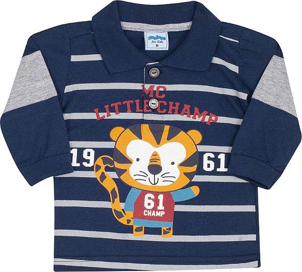 Camisa Avulsa Gola Polo Tigre Marinho - Serelepe Kids