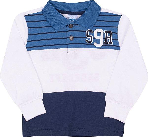Camisa Polo Avulsa S9R Branco - Serelepe Kids