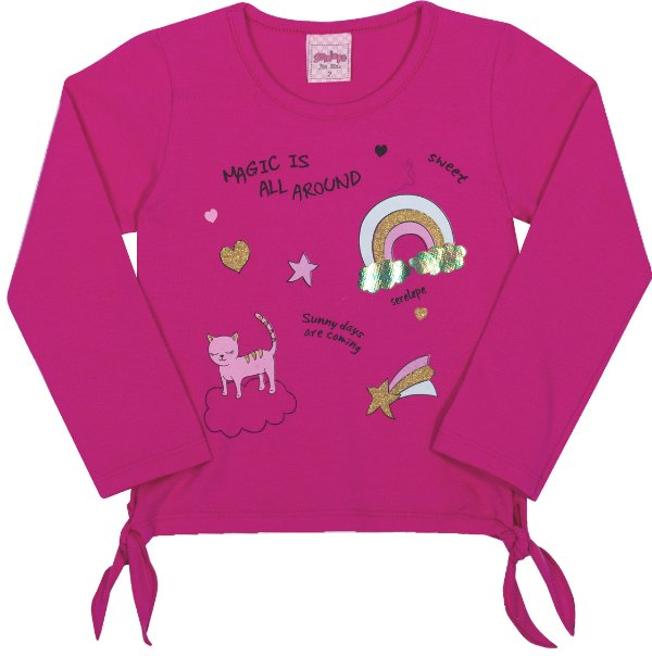 Blusa Avulsa Magic Pink - Serelepe Kids