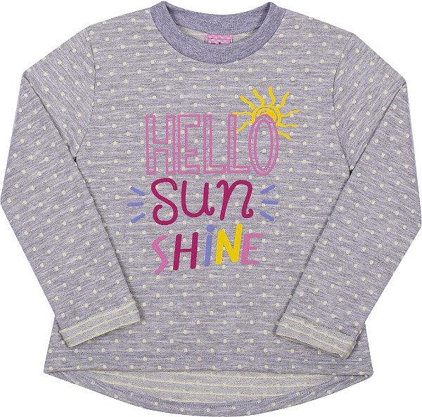Blusão em Moletinho Hello Citro - Serelepe Kids