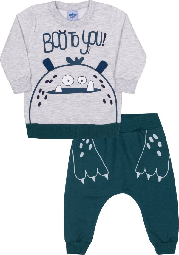 Conjunto Bebê Boo To You Mescla Banana - Serelepe Kids