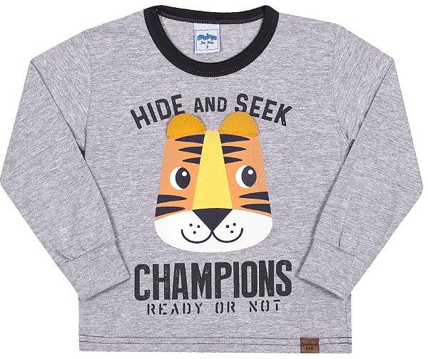 Camiseta Avsulsa Infantil Champions Mescla - Serelepe Kids