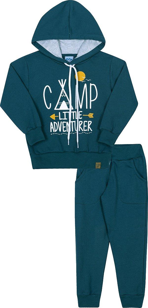 Conjunto Infanil Com Capuz Camp Cobalto - Serelepe Kids