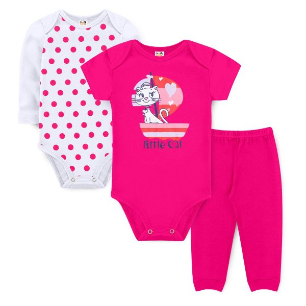 Kit Body Little Cat Pink - Sucrillá Basic