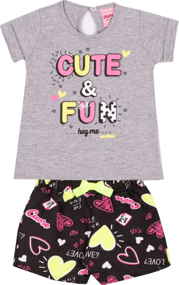 Conjunto Cute & Fun Mescla - Serelepe kids
