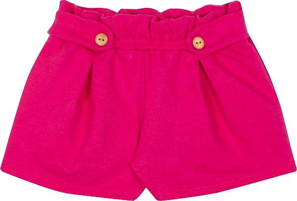 Short Avulso Basico Pink - Serelepe Kids